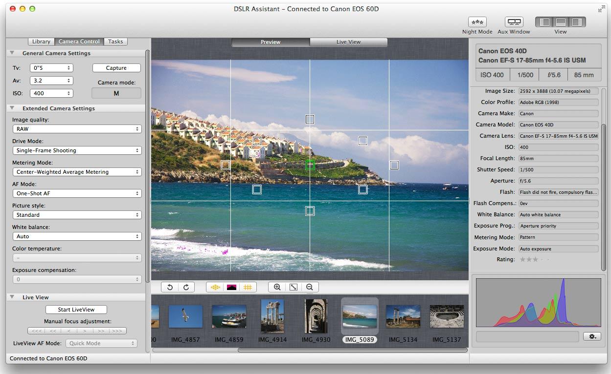DSLR Assistant 3.5.0 Mac 破解版 数码相机远程控制软件